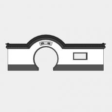 背景墙_140中式景墙_Sketchup模型