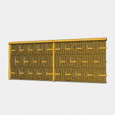 背景墙_146中式景墙_Sketchup模型