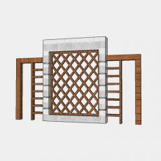 背景墙_147中式景墙_Sketchup模型