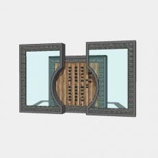 背景墙_151中式景墙_Sketchup模型