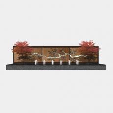 背景墙_161中式景墙_Sketchup模型