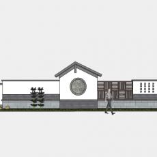 背景墙_177中式景墙_Sketchup模型