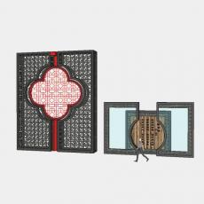 背景墙_179中式景墙_Sketchup模型