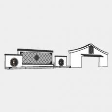 背景墙_181中式景墙_Sketchup模型