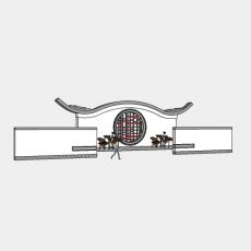 背景墙_184中式景墙_Sketchup模型