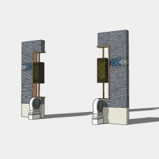 背景墙_188中式景墙_Sketchup模型