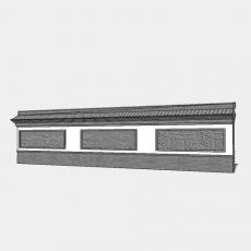 背景墙_191中式景墙_Sketchup模型