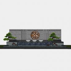 背景墙_194中式景墙_Sketchup模型