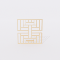 角线_角线24_Sketchup模型